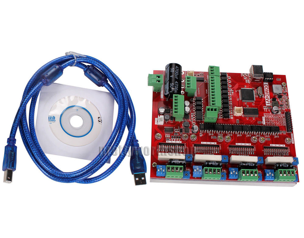 LV8727 4-Axis Stepper Motor, Spindle Driver & Motion Controller Board, USB Interface for PC/Laptop Connection, Mach3 Supported(China (Mainland))