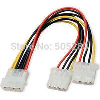 1pc 15cm NEW 4 Pin Molex Male to 2x 4-Pin Molex IDE Female Power Y-Splitter Adapter Cable HY316