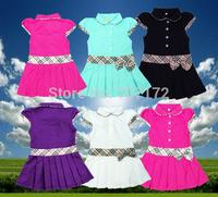 3--12 Free shipping girls summer dress B* Brand plaid dresses cotton girl skirt princess children clothing brief kids clothes