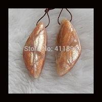Sunstone Earring Bead,39x17x5mm,9.2g