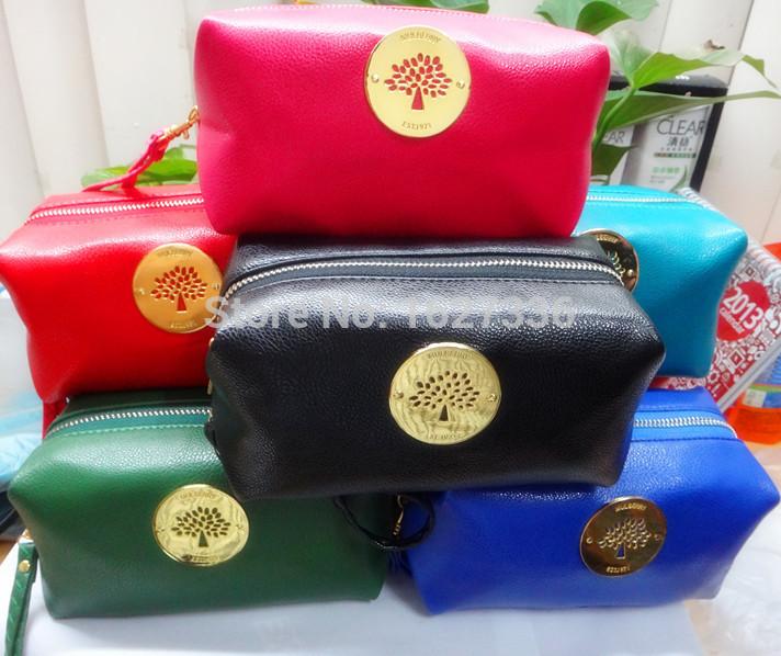 women make up cosmetic bag with tree candy color imitate sheepskin key bag Free Shipping(China (Mainland))