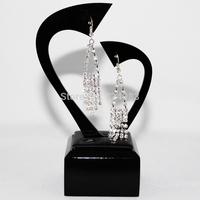 Fashion Long Earrings 2015 Big Acrylic Silver Plated Dangle Earrings Eardrop Statement Earrings Jewellry For Women accessories