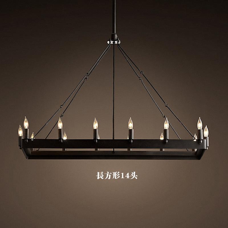 2015 Hot Sale Ikea Arge Villa Hotel Project Wrought Iron Chandelier Retro Restaurant Loft Mediterranean American Minimalist Lamp(China (Mainland))