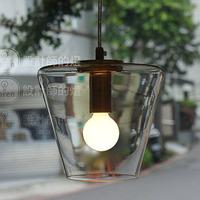Hot Sale ! IKEA Designer Lamps Minimalist Modern Creative American Bar Single Crystal Chandelier Cone Head