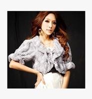 2015 celebrities fur coat short commute five points light silk small coat sleeve  15013002