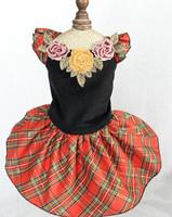New pet dog cat fashion tutu dress dogs cats grid Princess skirts pets supplies puppy wedding dresses clothes 10 pcs/lot