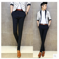 free shipping  Slim Straight Men's long pants feet large size men's casual pants plus size