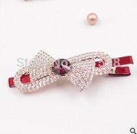 mix rhinestone hair accessory Hair clips Accessories Full Crystal Bowknot pearl Hair Clip (mix 12 pcs/lot