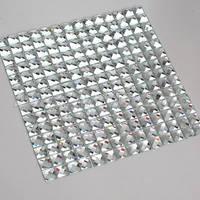 [Mius Art Mosaic] Beveling Edge White Color 13 faced  mirror Glass Mosaic Tile for Kitchen Backsplash E7PW-04