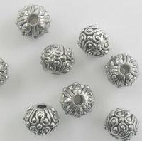 100Pcs Tibetan Silver exquisite Spacer Beads 5.5x6.5mm fits European Style Charm Bracelet Necklace ZH4011