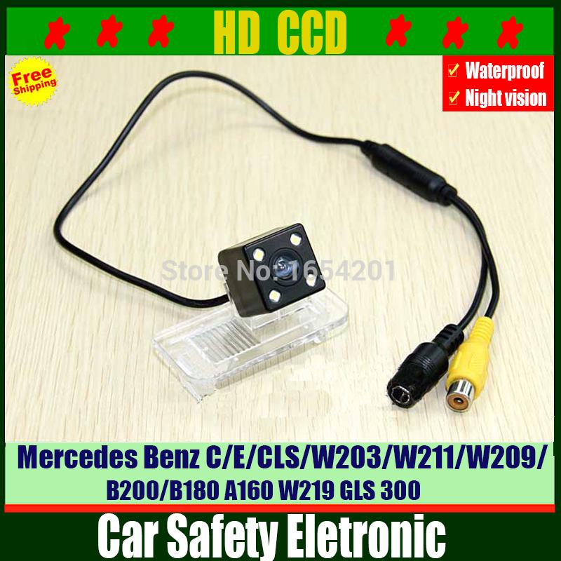 HD ccd Car rear view reverse parking camera for Mercedes Benz C/E/CLS/W203/W211/W209/B200/B180 A160 W219 GLS 300(China (Mainland))