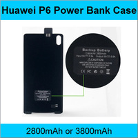 Huawei Ascend P6 Battery Clip mobile Power Bank 2800mAh or 3800mAh Phone Case For Huawei Ascend P6