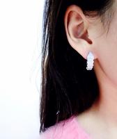 Korea bu * g * ri CZ Micro Pave Earrings snake