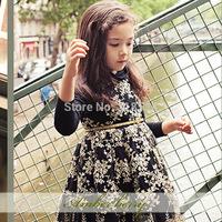 girls princess gauze embroidery dresses children high quality sleeveless one piece kids autumn clothing wholesale