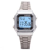 2015 Women vintage watches man LED electronic digital watch gold and silver Men Wristwatch Square Watch reloj