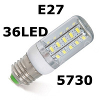 1x 5730SMD 36LED 11W E27 E14 B22 G9 GU10 110V/220V Corn Bulb Light Lamp LED Lighting Warm/Cool White Glass Cover #k ~c
