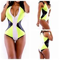 M-XL  New 2015 One Piece Swimsuit Bathing Suit Vintage Sexy Swimwear Women Trikini Fast Shipping