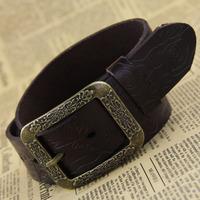 Women belts new fashion leather belt Ms high-grade male general belt cowhide pin buckle belts Wholesales