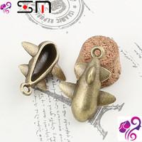23*18mm Zakka Antique bronze diy alloy jewelry accessories wholesale, vintage airplane charms pendant, plane military charm bulk