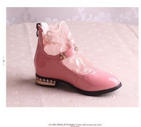 Free shipping!Fashion cute Lace decorate the Roman style gilrs shoes pu leather Children's Shoes