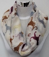 Free shipping ladies fashion  new dog  print infinity scarf  animal print  infinity scarf