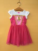 6PCS/LOT 4-6X baby girls princess dresses