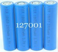 DHL 100 pcs wholesale 18650 battery 3.7V 2000mAh Li-ion aaa Rechargeable Battery for Mobile power/ power bank