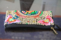 National Wind purse embroidered purse   The butterfly   Embroidery zero wallet  1563