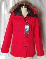 New 2015 Women Brand Goose Down Short Coat Winter Coats With Fur Hoods Big Fur Collar Warm Jackets Down Parkas Woman Outdoor