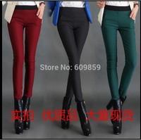 Plus thick velvet leggings Ms. Cotton Flax outer wear big yards pants feet Autumn Korean version was thin feet pants
