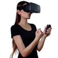 2015 Head Mount Plastic Google Cardboard  VR Virtual Reality oculus rift 3D Glasses+ original bluetooth game control+8GB card