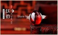 s925 silver ring silver synthetic garnet ruby jewelry female models Hongyun