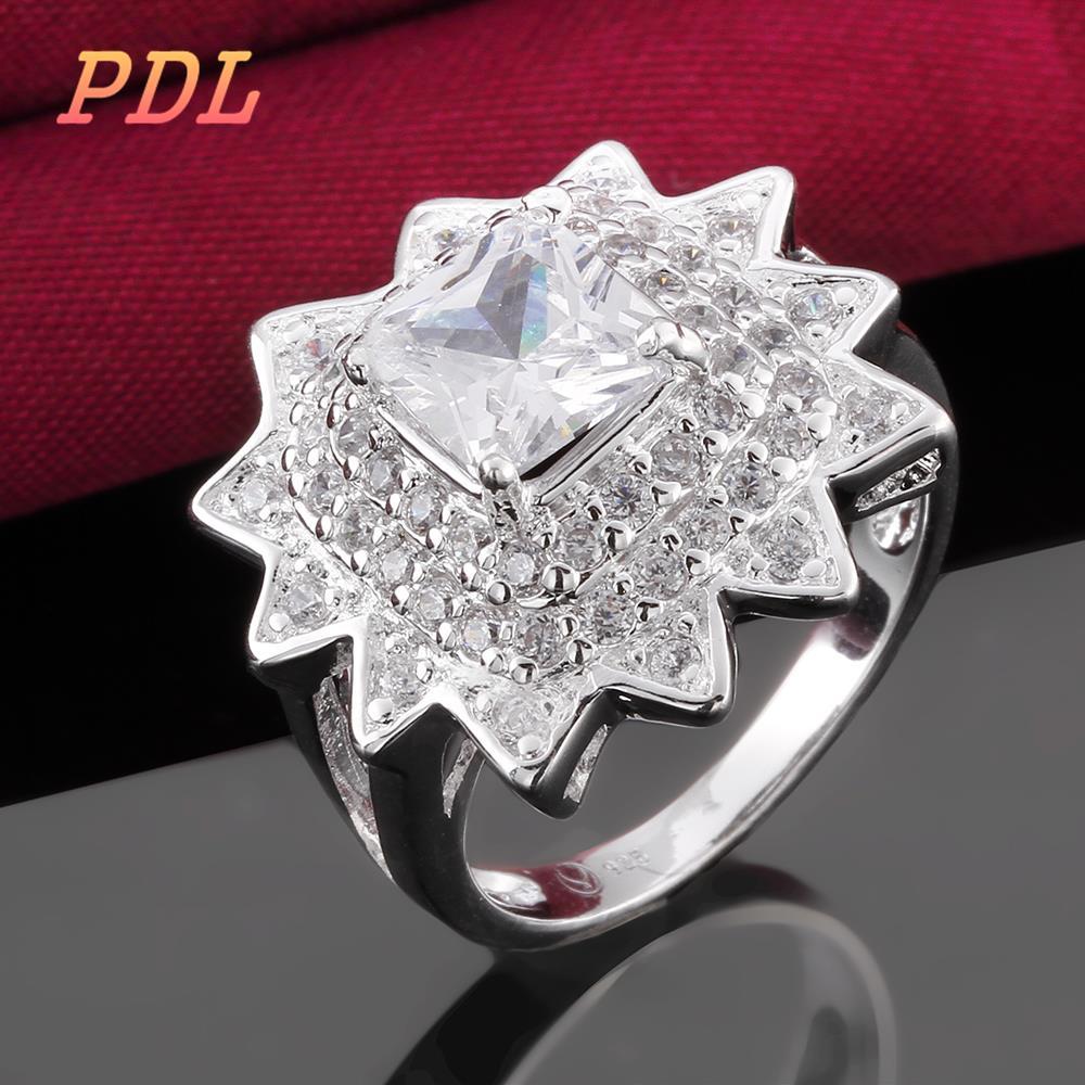 R486 8 Panduola Brand silver Love rose gold ring Lovely tungsten ring