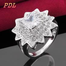 R486-8  Panduola Brand silver Love rose gold ring Lovely tungsten ring