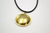 The hobbit necklace Baggin acornhead button pendant necklace