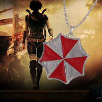 Resident Evil necklace Male fashion alloy accessories red umbrella necklace