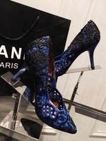 2015 New Women Fashion Elegant Pumps Party Wedding Shoes Lace Sexy Famous Brand Design High Heels Pump Single Shoes Size 34-39