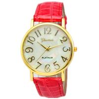 65pcs/lot New design high quality PU leather band quartz novel watch
