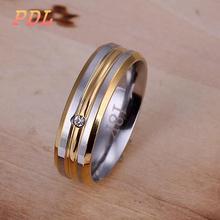 R100  Panduola Brand silver ring Luxury tungsten ring Famous brand 925 silver ring size 6