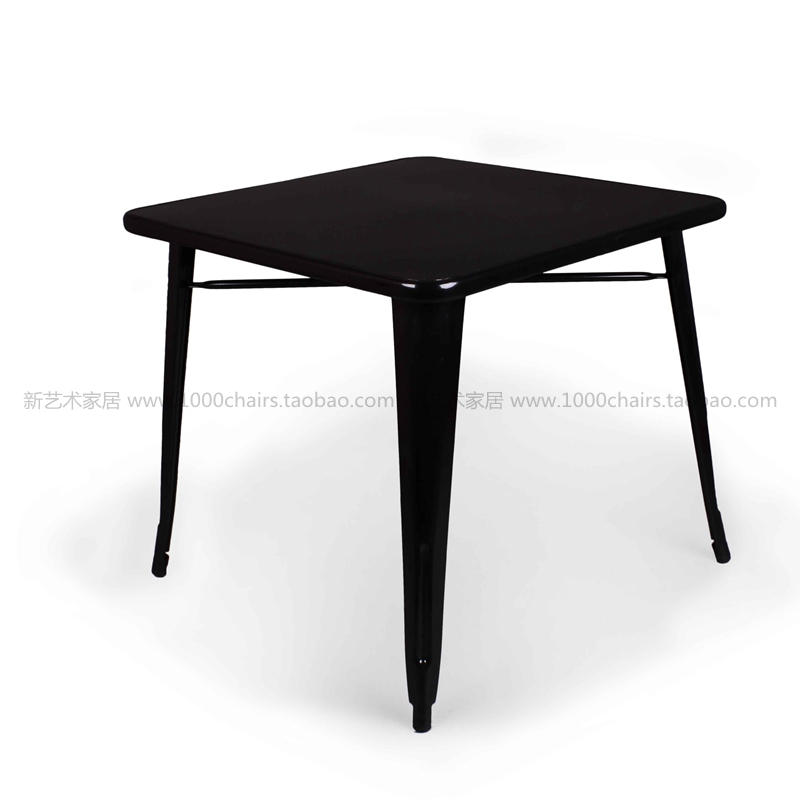 80 * 80cm iron iron dining table Industrial Wind square tin metal dining table ideas(China (Mainland))