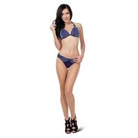 Halter Neck Striped Triangl Bikini Swimwear M,L,XL Moda Praia Feminina Swim Suit For Women 2015
