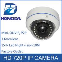 Mini IP camera indoor HD 720P Megapixel Security network cam 3.6mm lens ir distance 10M ONVIF Motion detection cctv cameras