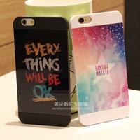 For   iphone   6 phone case for apple   6 4.7 phone case for  iphone   6 set scrub shell lovers