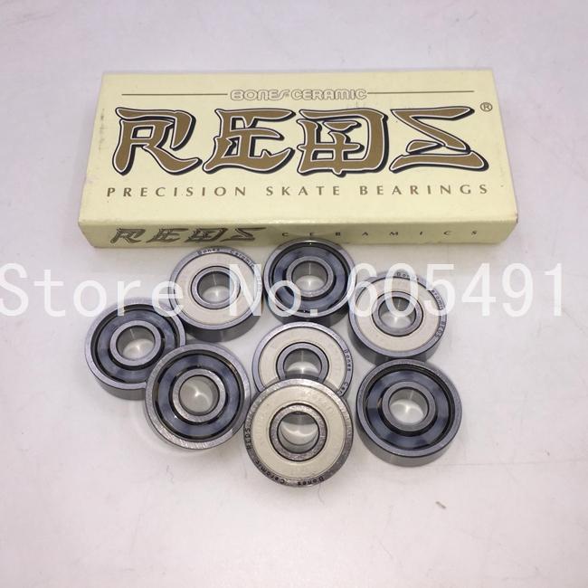 Buy 10 sets get 1 set free! Skate Bones Ceramic Bearing 608!8pcs/set Ceramic Reds Abec 11 Red Bones ceramic ball bearing 608 rs(China (Mainland))