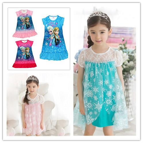 AliExpress.com Product - 3T-10T 100-140CM New children's summer dress Girl cartoon princess costume free shipping