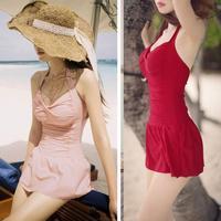 Free ShippingHot Sales Up Dress Sexy Women Swimsuit Halter Backless Womens Bikini Swimwear Dress