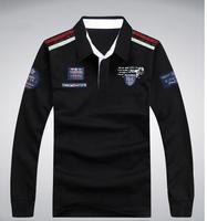 TUSS15028,2015 new arrive cotton polo shirt ,Men's long sleeve plus-size loose polo shirt men,size 3XL-8XL,free shipping.