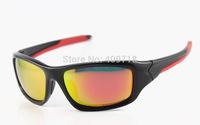 New Style Fashipn Acetate Sprots Eyeglass Men'/Women's Brand Valve OO9236-02 Black Sunglass Fire Iridium Lens Red Logo Polarized