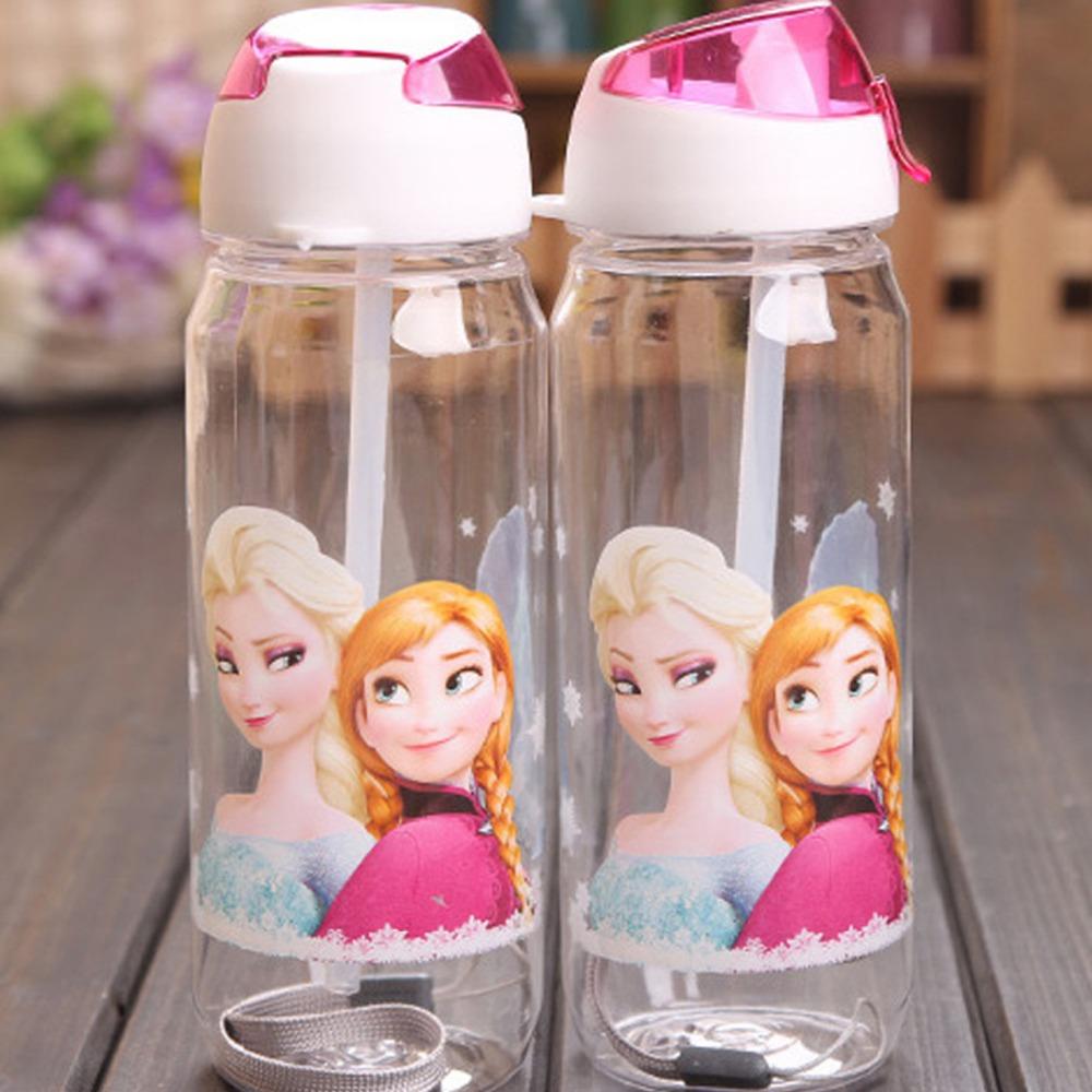Water Bottle kids Cartoon Drinkware Straw Cups Plastic Gift(China (Mainland))