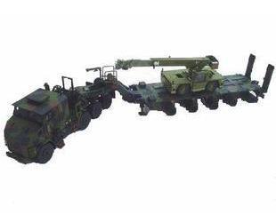 AceCool \TWH-Sword truck camouflage military vehicle model Oshkosh HET M1070 / Military Trailer + crane(China (Mainland))
